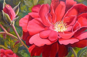 cottage rose painting-email
